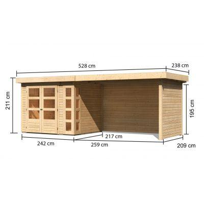 Afbeelding 2 van Woodfeeling Kerko 3 met veranda 280 cm (82938)