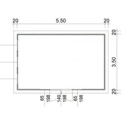 Afbeelding 2 van SmartShed Blokhut Zenon 550x350 cm, 30 mm