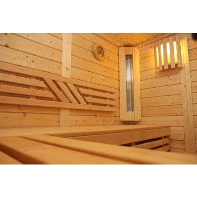 Afbeelding 40 van Azalp Massieve sauna Genio 166x166 cm, 45 mm