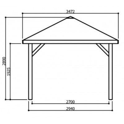 Afbeelding 3 van Solid Prieel Kiosk S7713