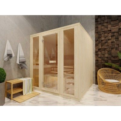 Afbeelding 2 van Azalp Massieve sauna Rio Optic 217x239 cm, 39 mm