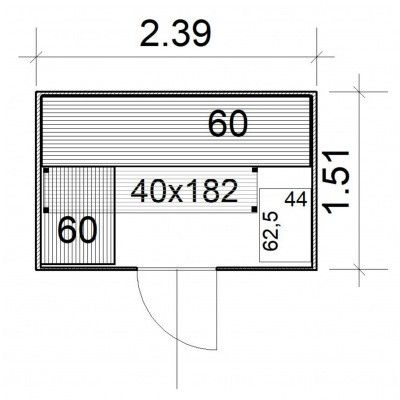 Afbeelding 4 van Azalp Massieve sauna Rio Glass 239x151 cm, 39 mm