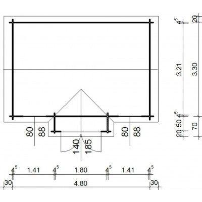 Bild 12 von Azalp Blockhaus Essex 500x350 cm, 45 mm