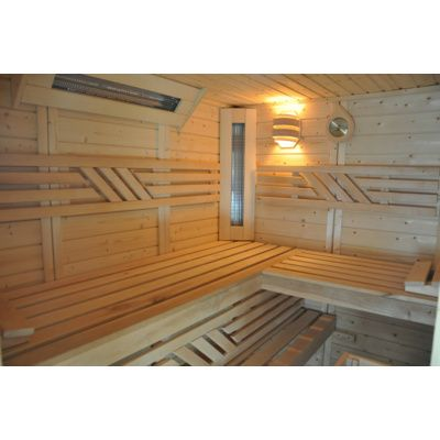 Afbeelding 5 van Azalp Saunabank recht, Elzen breedte 50 cm