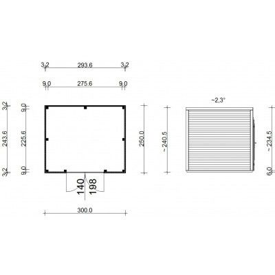 Bild 13 von SmartShed Gartenhaus Ligne 300x250 cm