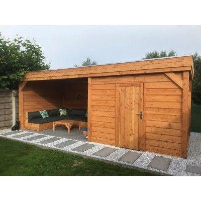 Bild 5 von WoodAcademy Bristol Douglasie Gartenhaus 780x300 cm