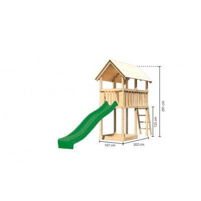 Afbeelding 2 van Akubi Speeltoren Danny met glijbaan (89355)
