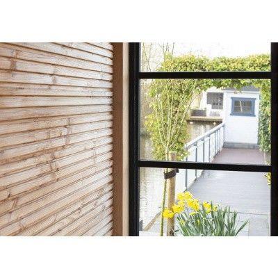 Afbeelding 5 van WoodAcademy Zijwand 400 cm glas met roede*
