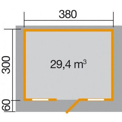 Afbeelding 2 van Weka Weekendhuis 138 Gr. 1 met Luifel 60cm