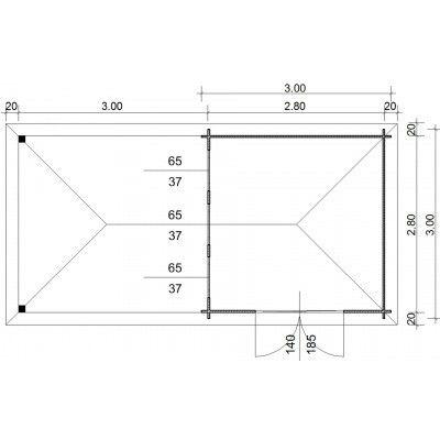 Bild 23 von Azalp Blockhaus Cas 590x300 cm, 45 mm