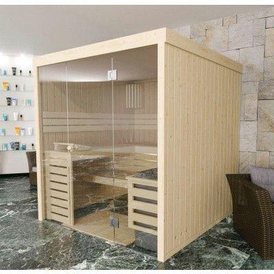 Hoofdafbeelding van Azalp massieve sauna Rio Glass 173x173 cm, 39 mm
