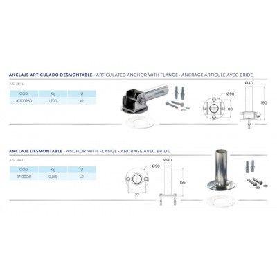 Afbeelding 2 van Flexinox RVS flensbevestiging (prijs per paar)*
