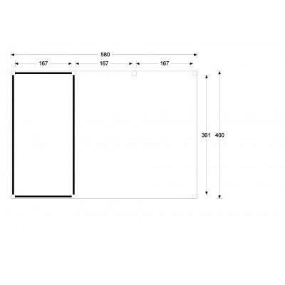 Bild 5 von WoodAcademy Cullinan Nero Gartenhaus 580x400 cm