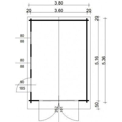 Bild 34 von Azalp Garage Keutenberg 380x536 cm, in 95 mm