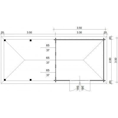 Bild 23 von Azalp Blockhaus Cas 690x300 cm, 45 mm