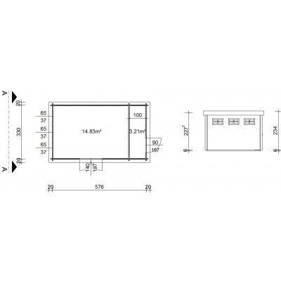 Bild 18 von Azalp Blockhaus Lars 596x350 cm, 45 mm