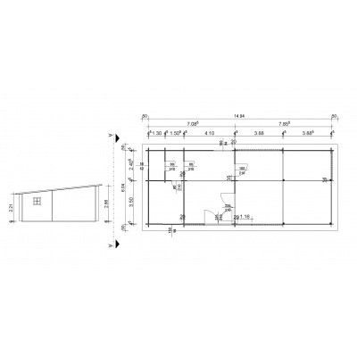 Afbeelding 24 van Azalp Vertical Chalet 1594x704 cm, 45 mm
