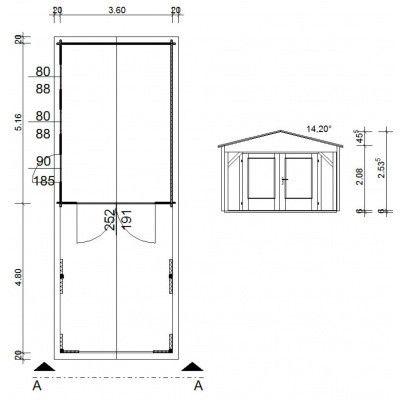 Afbeelding 10 van Azalp Garage Jeffrey 380x536 cm, 95 mm