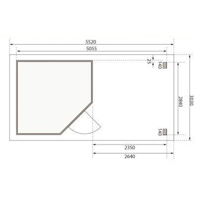 Afbeelding 2 van Woodfeeling Neuruppin 3 met veranda (77774)