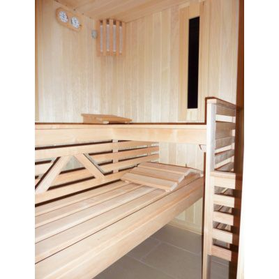 Afbeelding 7 van Azalp Saunabank recht, Elzen breedte 60 cm