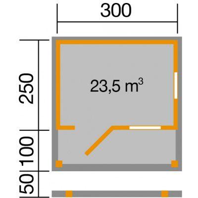Afbeelding 2 van Weka Tuinhuis 820A Gr. 2 met Bar