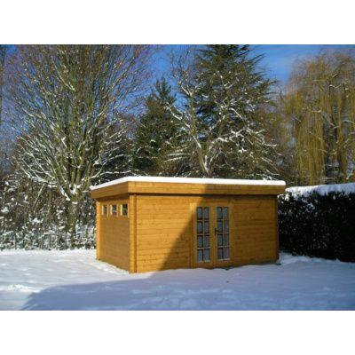 Bild 74 von Azalp Blockhaus Ingmar 596x596 cm, 45 mm