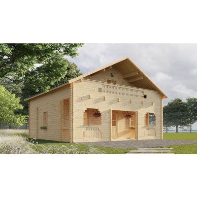 Hoofdafbeelding van Graed Livington Chalet 600x600 cm, 44 + 44 mm (Dubbelwandig)