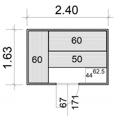 Afbeelding 5 van Azalp Massieve sauna Rio Standaard 240x163 cm, 39 mm