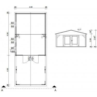 Afbeelding 10 van Azalp Garage Jeffrey 500x700 cm, 95 mm