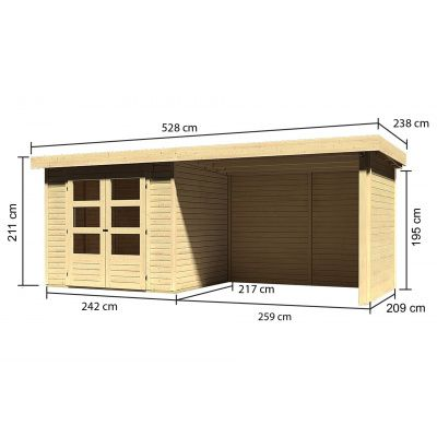 Afbeelding 3 van Woodfeeling Askola 3 met veranda (77727)