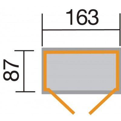 Afbeelding 2 van Weka Tuin- en terraskast Gr.2 14 mm zadel