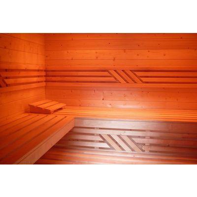 Afbeelding 23 van Azalp Saunabank recht, Elzen breedte 40 cm
