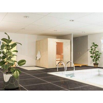 Afbeelding 4 van Azalp massieve sauna Rio Standaard 141x141 cm, 39 mm