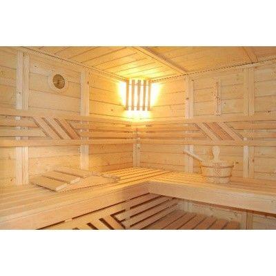 Afbeelding 34 van Azalp Saunabank recht, Elzen breedte 40 cm