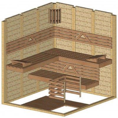 Afbeelding 44 van Azalp Massieve sauna Genio 180x200 cm, 45 mm