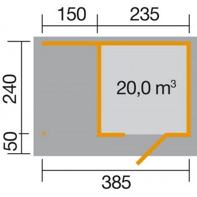 Bild 2 von Weka Designhaus 172 A Gr.1, 385x240 cm grau