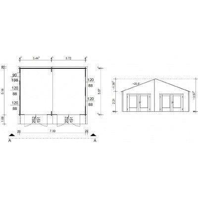 Afbeelding 18 van Azalp Garage Madrid 750x536 cm, 45 mm