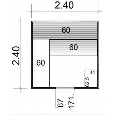 Afbeelding 5 van Azalp Massieve sauna Rio Standaard 240x240 cm, 39 mm