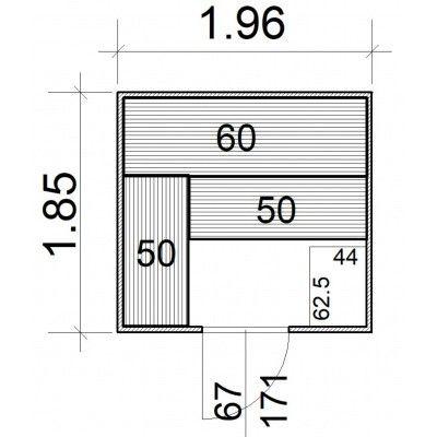 Afbeelding 5 van Azalp Massieve sauna Rio Standaard 196x185 cm, 39 mm