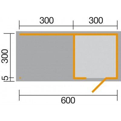Afbeelding 2 van Weka 413B Gr.2, 596x300 cm antraciet
