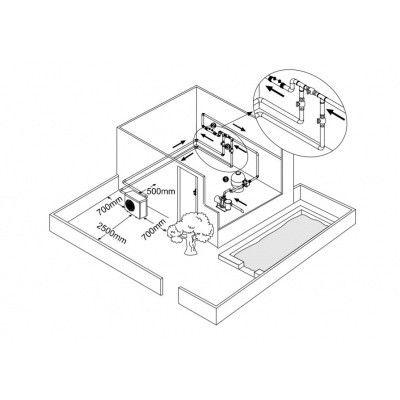 Afbeelding 6 van Fairland BWT MyPool 6,2 kW step Inverter mono zwembad warmtepomp (14 - 28 m3)