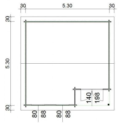 Bild 66 von Azalp Blockhaus Kinross 550x550 cm, 45 mm