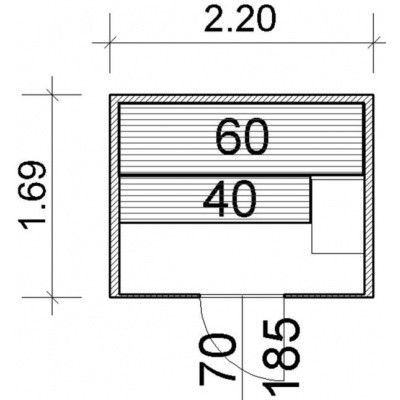 Afbeelding 64 van Azalp Lumen elementsauna 220x169 cm, elzen