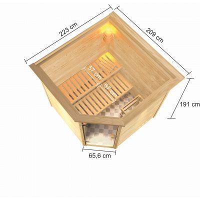 Bild 3 von Karibu Tilda mit Dachkranz (6175)