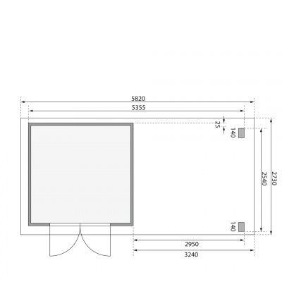 Afbeelding 2 van Woodfeeling Kandern 3 met veranda 300 cm (82996)