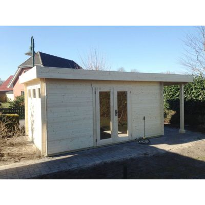 Bild 56 von Azalp Blockhaus Sven 400x450 cm, 45 mm