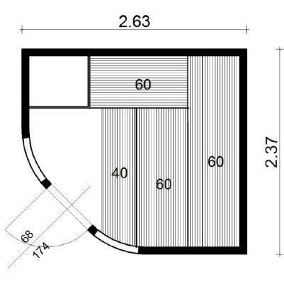 Bild 13 von Azalp Sauna Runda 263x237 cm, Espenholz