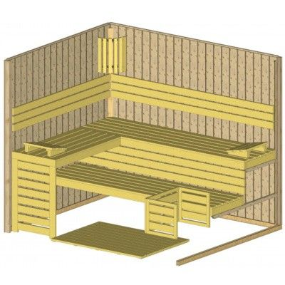 Afbeelding 5 van Azalp Massieve sauna Rio Glass 239x195 cm, 39 mm