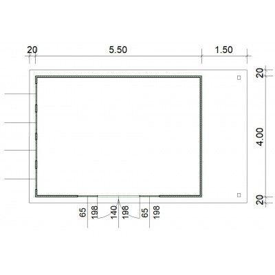 Afbeelding 3 van SmartShed Blokhut Isidro 550x400 cm, 30 mm