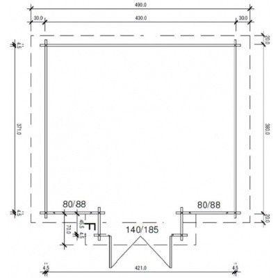 Bild 12 von Azalp Blockhaus Essex 450x400 cm, 45 mm